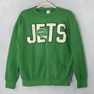 Vintage Logo 7 NY Jets Crewneck Sweatshirt